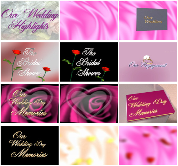 Wedding Motion Video Backgrounds