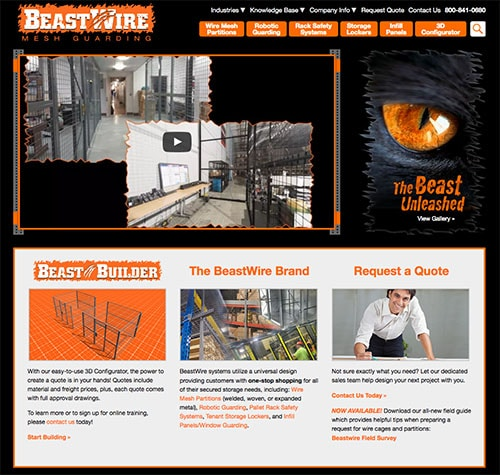 BeastWire Mesh Guarding Website